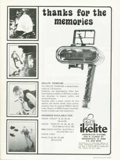 Ikelite Underwater Camera Housing Ad T (1978)