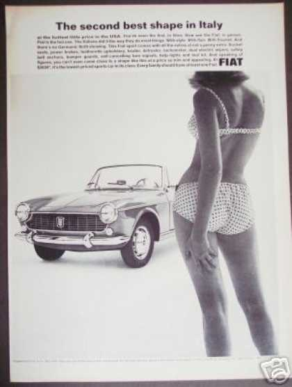 Girl In Bikini Fiat Sport Sports Car Photo (1965)