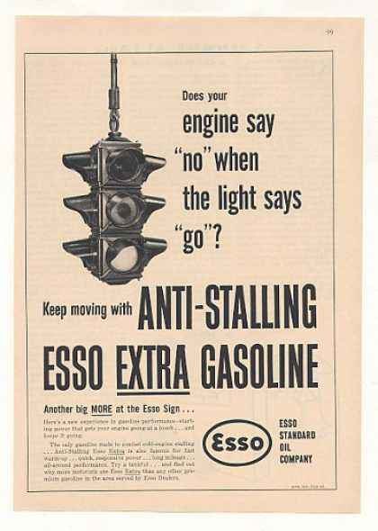Traffic Signal Light Esso Extra Gasoline (1951)