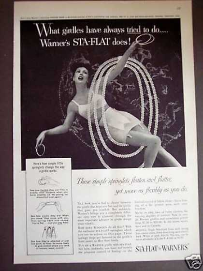 Woman In Warner's Sta-flat Girdle (1956)