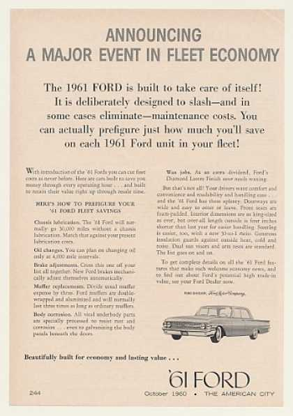 Ford Fleet Car Economy (1961)