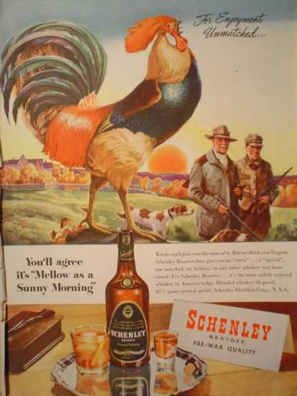 Schenley Whiskey Hunting Theme (1945)