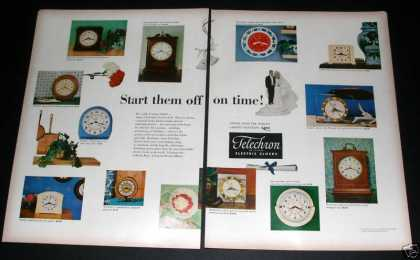 Telecron Electric Clocks, Exc (1949)