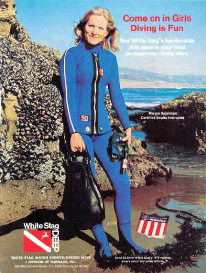 White Stag Girl Woman Scuba Instructor Diver (1976)