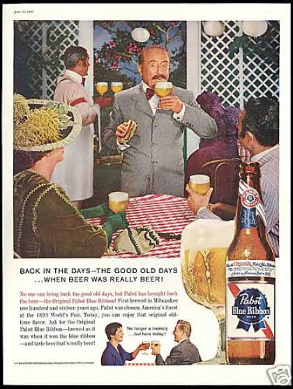 Pabst Blue Ribbon Beer Good Old Days (1960)