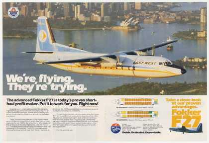 East-West Airlines Fokker F27 Aircraft Photo DP (1982)