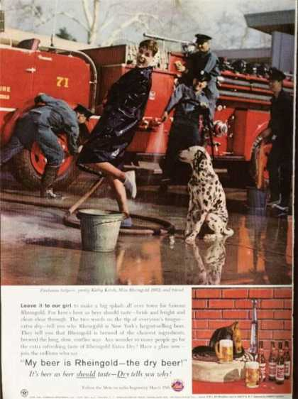 Rheingold Beer Firehouse Helper Firetruck (1962)