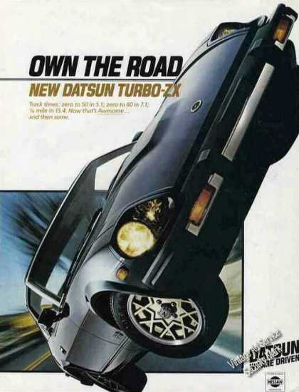 "Datsun Turbo-zx ""Own the Road"" Glamour Shot (1981)"