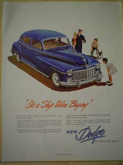 New Dodge It's a ship AND Rain Beau NYTWIST Fishing Line (1947)