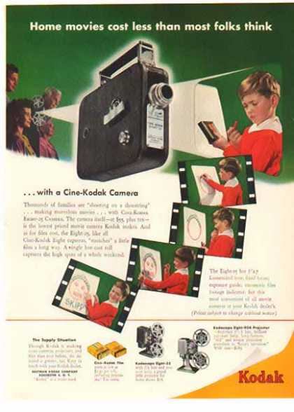 "Kodak Camera – Cine-Kodak – ""Home movies"" (1949)"