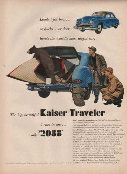 Kaiser Traveler Bear In Bluecar (1949)