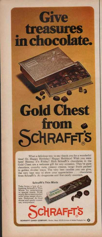 Gold Chest From Schrafft's Candy (1970)