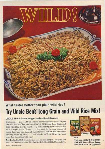 Uncle Ben's Long Grain and Wild Rice Mix (1963)