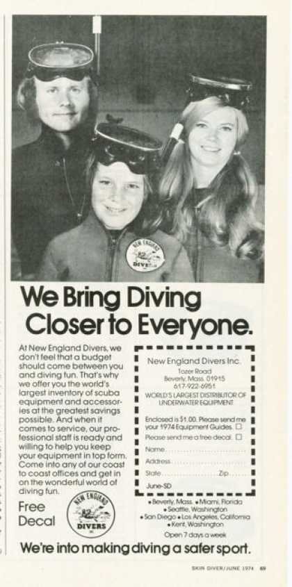 New England Divers Scuba Diving Family (1974)