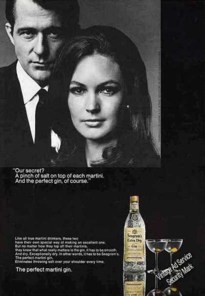 "Seagrams ""The Perfect Martini Gin"" Our Secret (1967)"