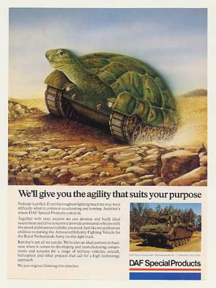 Turtle Tank art DAF Special Products (1989)
