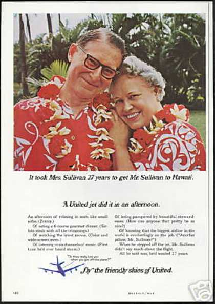 United Airlines Hawaii Mr Mrs Sullivan (1966)