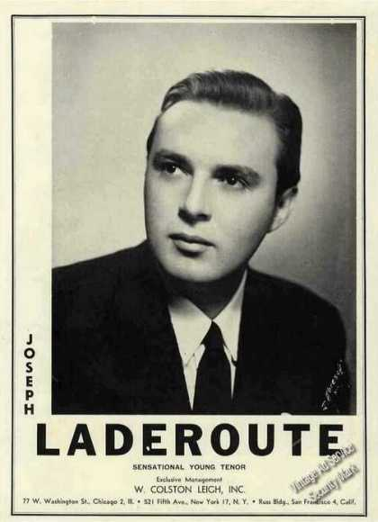 Joseph Laderoute Photo Tenor Booking (1945)