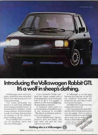 "Vw Volkswagen Rabbit Gti ""Wolf In Sheep's"" (1983)"