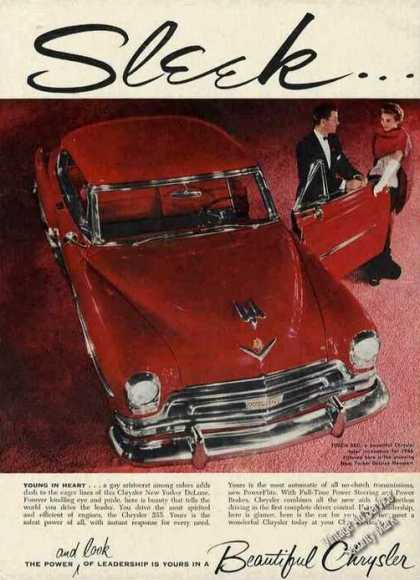 Chrysler Red New Yorker Deluxe Newport Photo (1954)