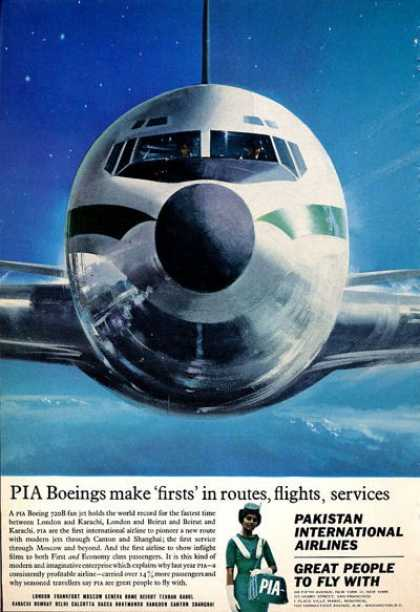 Pia Pakistan Airlines Stewardess Plane (1965)