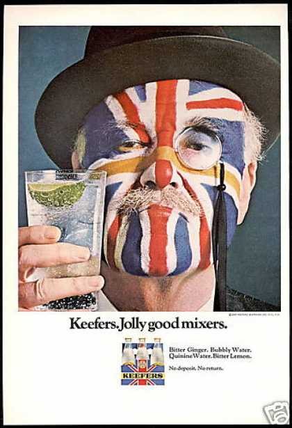 Keefers Jolly Good Mixers Union Jack Flag (1967)