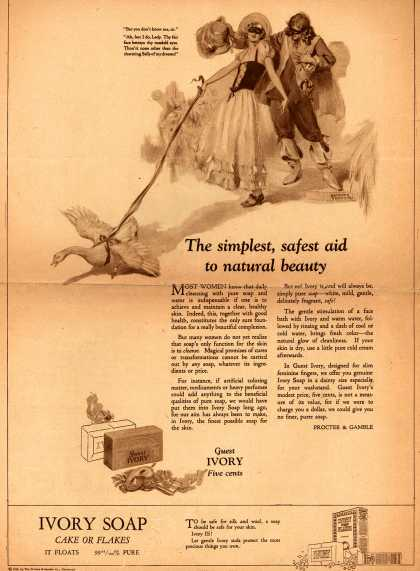 Procter & Gamble Co.'s Ivory Soap – The simplest, safest aid to natural beauty (1924)