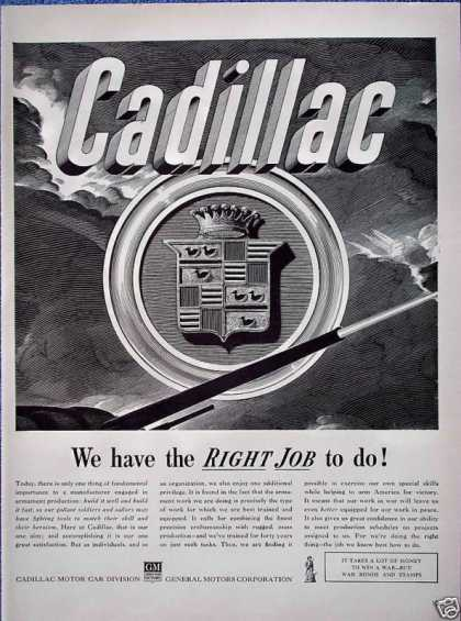 Cadillac Tank Emblem Right Job To Do War (1942)