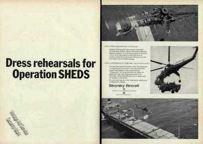 Sikorsky Skycrane Photos Operation Sheds (1968)
