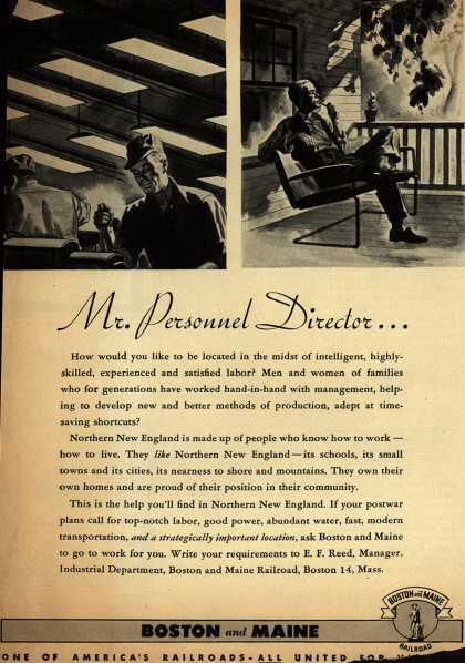 Boston and Maine Railroad's Northern New England – Mr. Personnel Director... (1945)