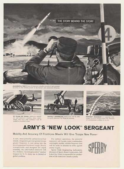US Army Sperry Sergeant Missile System (1959)