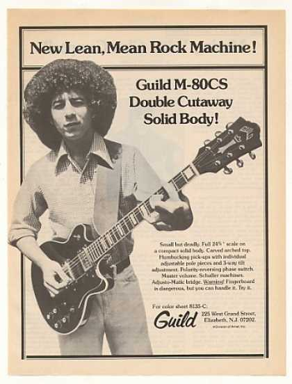 Guild M-80CS Double Cutaway Solid Body Guitar (1976)