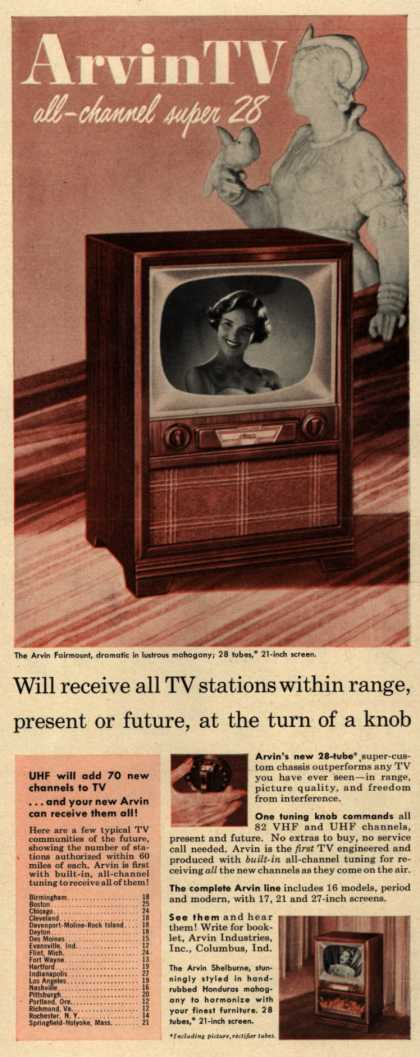 Arvin Industrie's Television – Arvin TV, all-channel super 28 (1952)