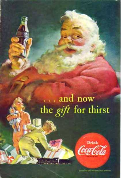 Coke Christmas &#8211; Santa and children (1952)