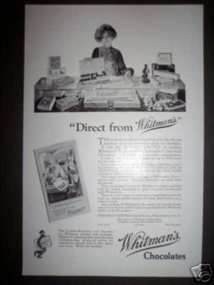 Whitman's Chocolates Ad Store Candy Display (1923)