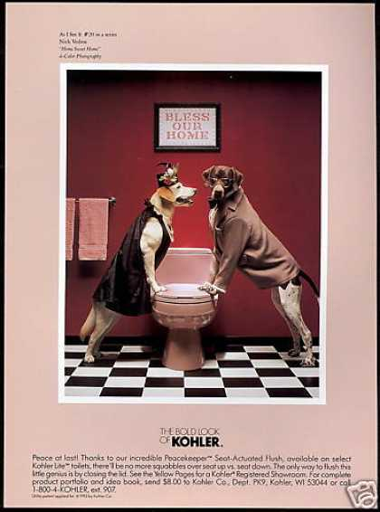 Cute Dog Photo Kohler Toilet #20 In Series (1994)