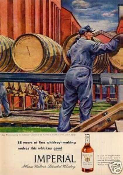 Imperial Whiskey Ad Zoltan Sepeshy Art (1946)