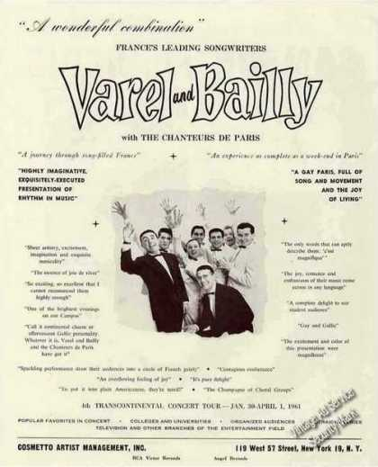 Varel and Bailly With the Chanteurs De Paris (1960)
