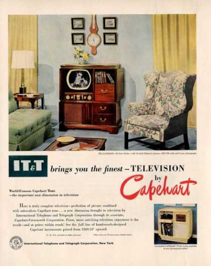 The Capehart Deluxe Tv Radio Phonograph (1950)