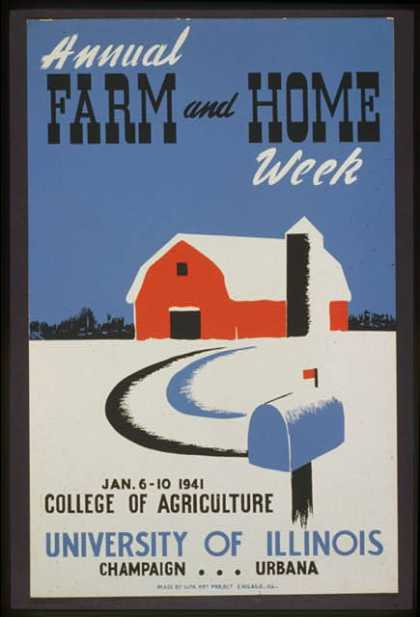 Annual farm and home week. (1941)