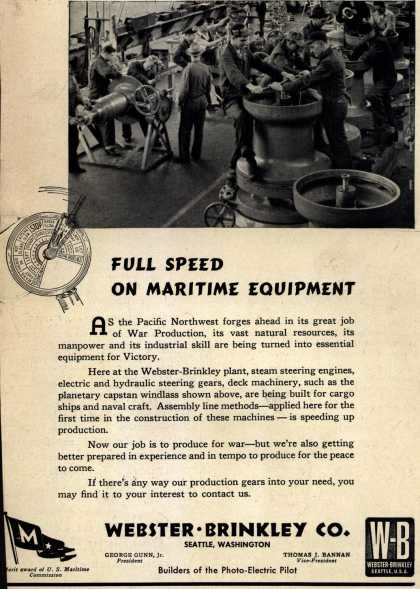"Webster Brinkley Co.'s Maritime ""M"" – Full Speed On Maritime Equipment (1943)"