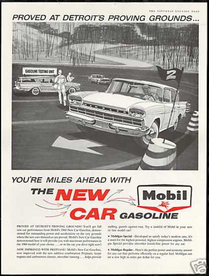 Rambler Car Detroit Proving Grounds Mobil Gas (1960)
