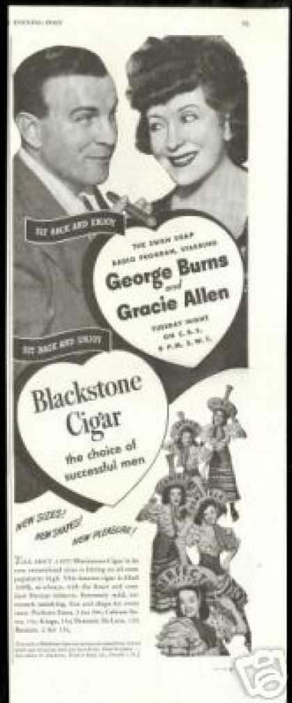 George Burns Gracie Allen Blackstone Cigar (1944)