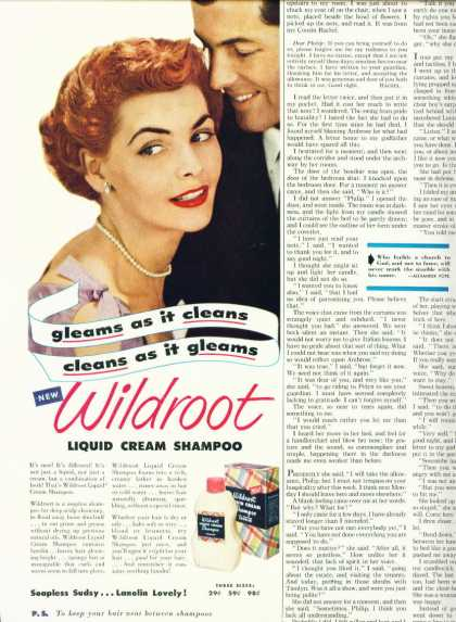 Wildroot Liquid Cream Shampoo 1/2 Page (1951)