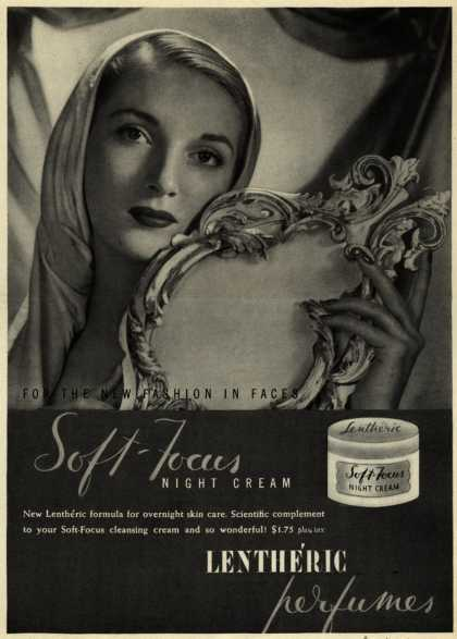 Lentheric's Soft-Focus Night Cream – For The New Fashion In Faces (1944)