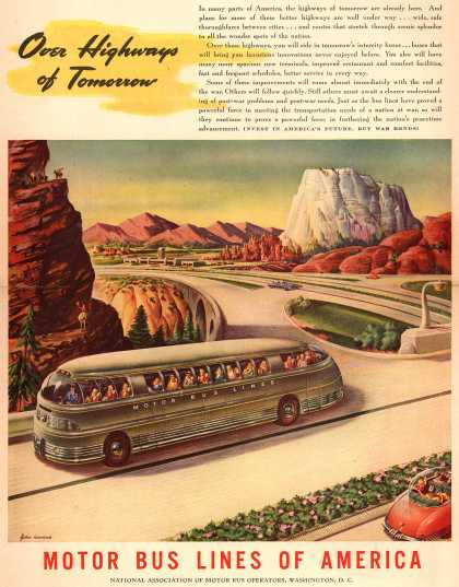 Motor Bus Lines of America – Over Highways of Tomorrow (1945)