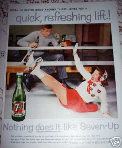 7up Seven-up Skating Photo Soda (1958)