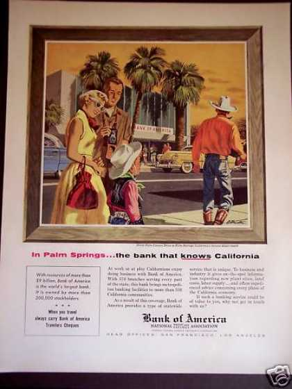 Bank of America In Palm Springs California (1956)