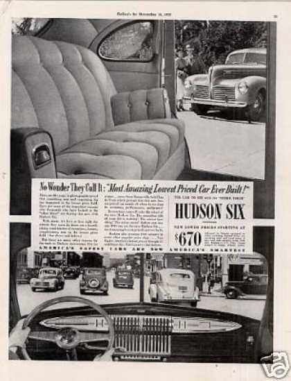 "Hudson Six Car Ad ""No Wonder They Call It... (1940)"
