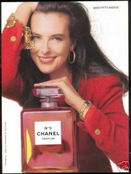 Carole Bouquet Chanel No 5 Perfume Photo (1989)